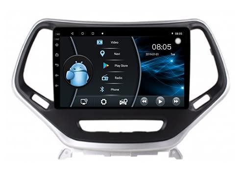 AEBDF Android 10 Radio para Jeep Cherokee 2006 10.1 Pulgadas Coche en el Tablero Consola de navegación GPS Soporte de Pantalla táctil IPS Bluetooth WiFi Mapas,4 Core WiFi 1+16 (Ultra Thin)