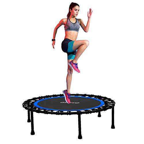 "Newan 40"" Silent Mini Trampoline Fitness Trampoline Bungee Rebounder Jumping Cardio Trainer Workout for Adults (Max. Load 330lbs)"