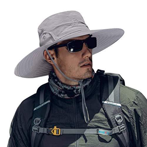 Cooltto Sombrero del Pescador,Gorro de Pesca,50+ UV protección Solar de Ancho Borde...