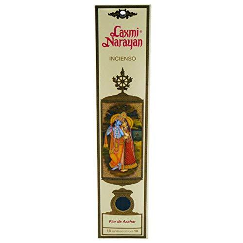 KERALA Incienso Laxmi Narayana Sticks, Flor de Azahar 100% Natural sin Ftalatos.