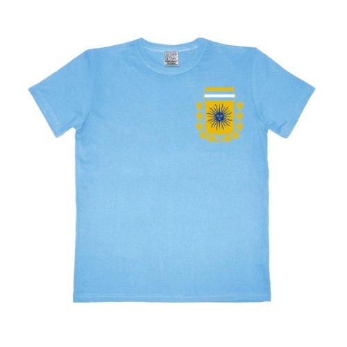 Logoshirt - T-shirt Football Argentine slim fit homme - light blue - Bleu (Light Blue) - FR: X-Large (taille fabricant: X-Large)