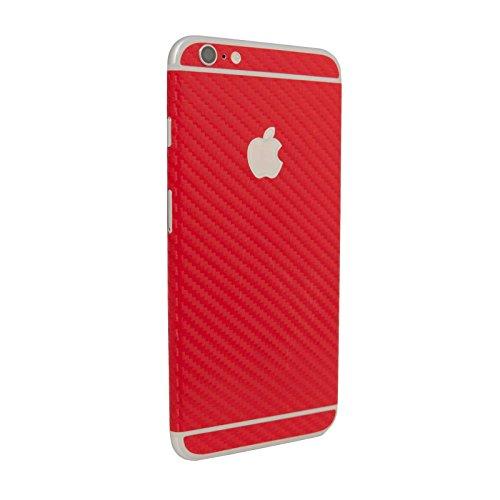 Vinilo adhesivo texturizado de fibra de carbono rojo para iPhone 6/6S modelo de 4,7 pulgadas