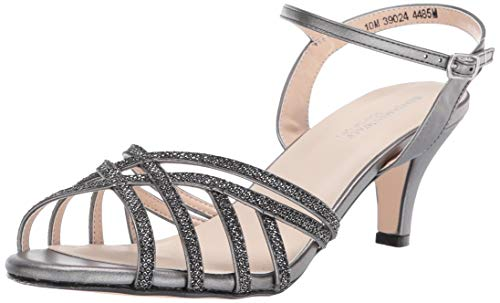 Touch Ups womens Amara Heeled Sandal, Pewter, 10.5 Wide US