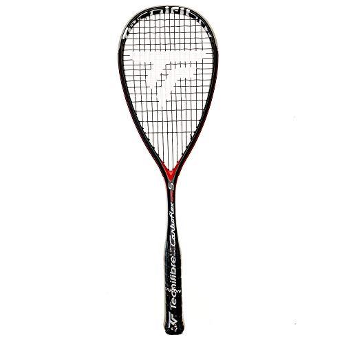 Tecnifibre CARBOFLEX 125 S - Raqueta de Squash para Adulto, Negro, Talla única
