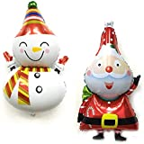 Omenluck 6 piezas grande de Papá Noel globo de Navidad muñeco de nieve de aluminio de la película...