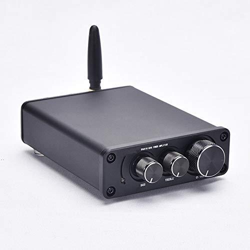 ONLYU Bluetooth 5.0 Mini Amplificador de 50W x 2 de Alta fidelidad de Audio estéreo de subwoofer de Alta Potencia Amplificador de Clase D Digital Amp Integrado para el hogar Altavoces,Negro