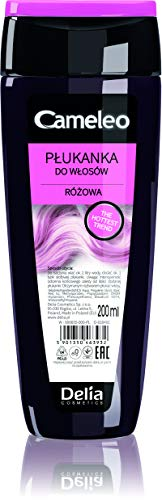 Delia Cosmetics Cameeo Haarspülung Haartönung 200 ml für Blond grau und gefärbtes Haar, Rosa Haar-Toner, 600 milliliters