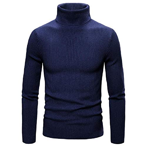 Winter Truien Trui Mannen Mode Slim Fit Engeland Stijl Heren Truien Casual Warm Coltrui Mannen