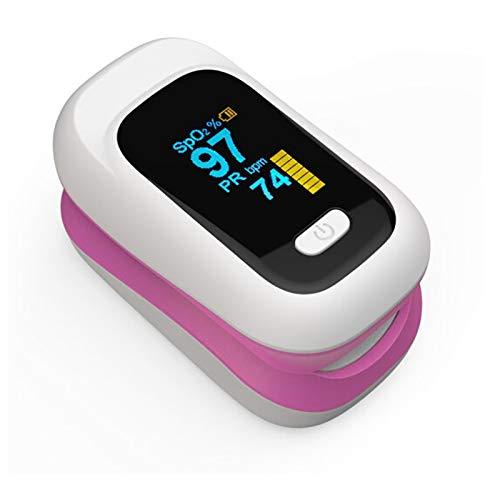 DZLXY Finger-Pulsoximeter, Blutsauerstoffsättigung-Monitor Lesungen Spo2 Blut-Sauerstoff-Nutzung für Senioren Erwachsene Kinder Krankenhaus Startseite Gesundheitswesen,Rosa