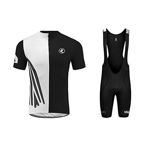 Uglyfrog+ Radtrikot Herren Kurzarm Fahrradbekleidung Set Outdoor Sports Radfahren Jersey + Radfahren Latzhose Shorts im Sommer