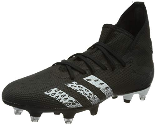 adidas Predator Freak .3 SG, Scarpe da Calcio Uomo, Core Black/Ftwr White/Core Black, 40 2/3 EU