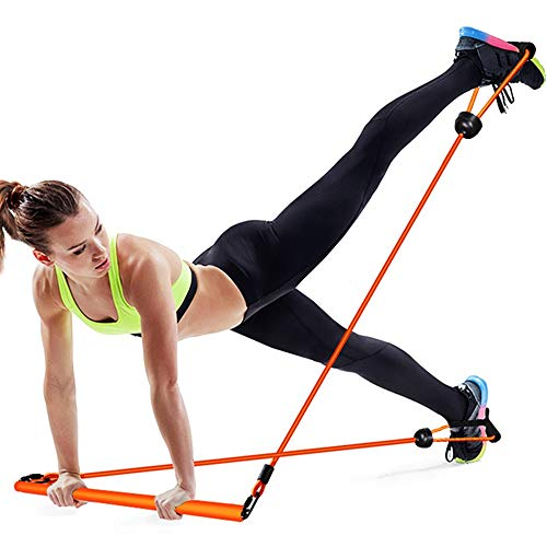 LY Pilates Trainer Fitness Rod con Foot Loop, Exercise Bar per Home Gym, Total Body Workout