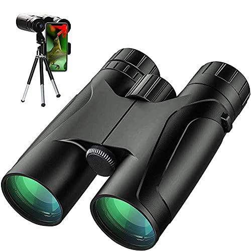 Binoculares potentes de 12 x 42,binocularesHD de alta potencia para adultos,binoculares aprueba deagua conprismáticos de prisma BAK4duraderos y transparentespara observación de aves,campi