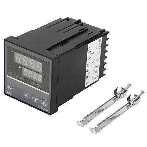 Temperature Controller Instrument,REX-C700FK02-MY*AN PID Intelligent Control Dual Digital Display Temperature Controller Output