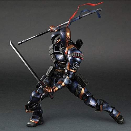 Anime Spielzeuganime Playarts Batman Arkham Ursprünge Deathstroke Deadpool PVC Acton Figur Sammler Modell Spielzeug Puppe 27Cm