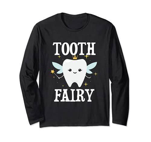 Disfraz de hada de los dientes de Halloween para adultos y nios Manga Larga