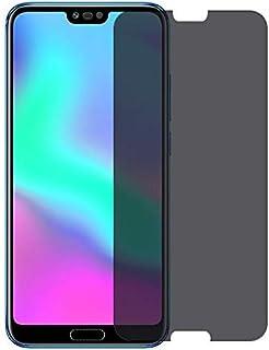 واقي شاشة بحماية زجاجية صلب مقاوم للكسر غامق ( للحفاظ على الخصوصية ) لجوال أونور 10 بشريحتي اتصال Honor 10