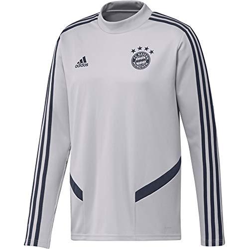 adidas Herren FC Bayern München Trainings Top 19/20 LGH solid Grey/Trace Blue F17 XXL