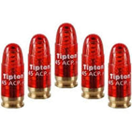 Tipton Pistol Snap Caps .45 ACP with False Primer and Reusable Construction for Dry-Firing, Practice and Safe Firearm Storage, 5 Pack