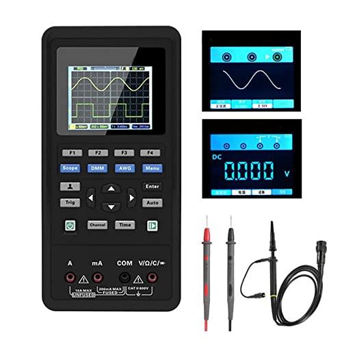 HEQIE-YONGP Osciloscopio Digital 2c42/ 2d72 Osciloscopio Digital de Mano+ multímetro+ generador de señales (Size : 2D42 40M)