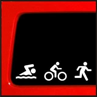 Triathlon Decal Swim Bike Run Bumper Sticker Car window ironman decal 13.1 13.2