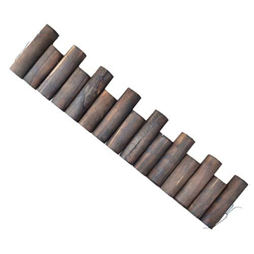 DOITOOL - Recinzione in legno per giardino, giardino, cortile, cortile, bordatura, bordi, bordi per...
