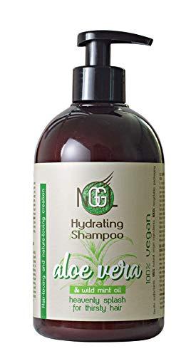 NGGL - Champú nutritivo vegano con áloe vera 100% natural y aceite de menta silvestre, 500 ml