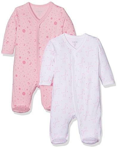 Care Baby-Mädchen Schlafstrampler, 2er Pack, Mehrfarbig (Fairy Rose 409), 3 Monate (Herstellergröße: 3 Monate (Herstellergröße: 62 ) )