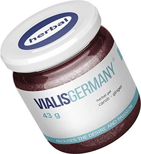 VialisGermany® 43g | SOFORT EFFEKT | Energie & Kraft für den Mann aus 5 natürlichen Inhaltsstoffen INGWER GINSENG JOHANNISBROT MACA BRENNNESSEL 43 GRAMM