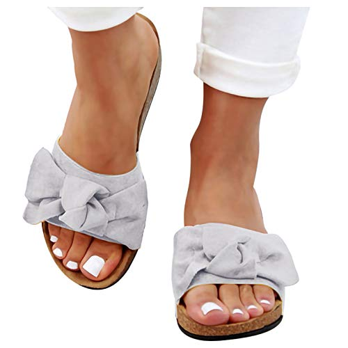 Hosamtel-Top Wedge Sandals for Women Casual Ladies Shoes Summer Slip-on Leather Flatform Sandals with Rubber Soles
