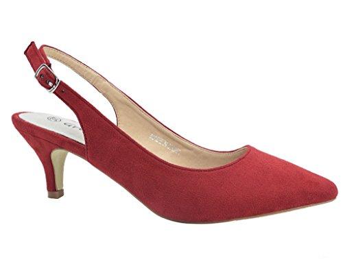 Greatonu Zapatos Tacón Rojos Modas Cómodos Fiesta