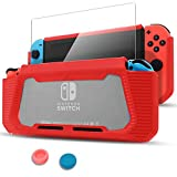 Pakesi Case for Nintendo Switch, Compatible with Nintendo Switch Cover Case with Tempered Glass Screen...