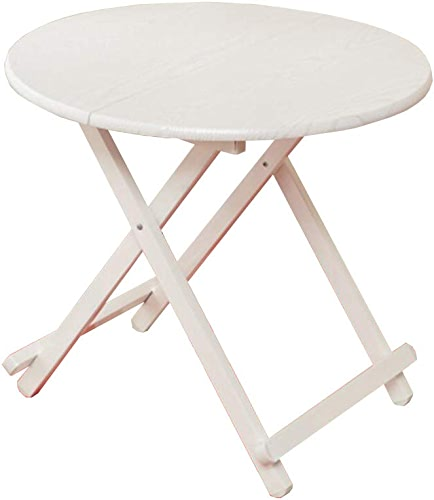 QZ HOME Table Pliante Table De Collation Camping Dortoir Balcon Simple Simple Durable (Couleur   blanc-1, Taille   80  80  75cm)