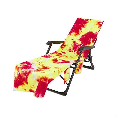 Toalla de Playa Vistoso Tie-Dye Impresión Silla para Playa Portátil, Toalla Microfibra Tumbona para Playa, Bolsa de Toalla,Vacaciones, Jardín,Piscina (Color 5, 75 × 210 cm)