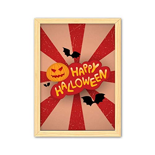Cartoon Halloween Fonts Art Deco Gift Fashion Decorative Wooden Painting Home Decoration Picture Frame A4