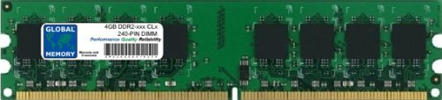 GLOBAL MEMORY 4GB DDR2 667/800MHz 240-PIN DIMM Memoria RAM para Ordenadores DE SOBREMESA/Placas Base