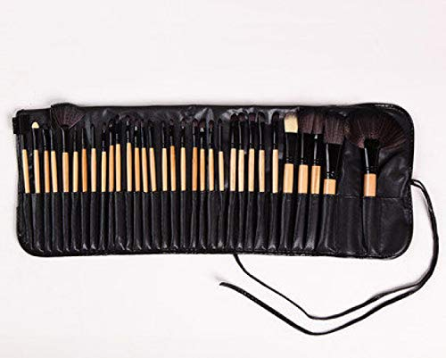 Ensemble De Pinceaux De Maquillage Professionnel Outils De Maquillage Combinaison De Pinceaux À Paupières, 32 Paquets Noirs E