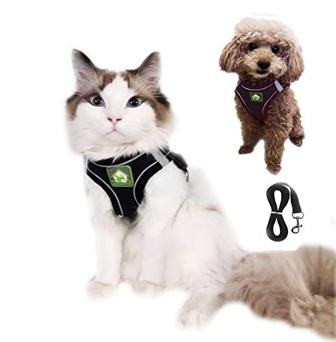 WISNOW Dog Harness No Pull Puppy Harness and Leash Set Step-in Breathable All Weather Mesh Vest Reflective Adjustable Easy Control Pet Harnesses for Small Medium Dogs and Cats Walking Outdoor