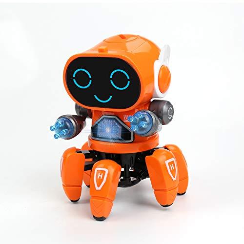 Micnaron Dancing Music Robot Toy,Smart Singing Dancing Robot for Kids,Colorful Lighting Girls and Boys Toy.Electric Singing Dancing Lighting Robot Toy for Kids,Six Claw Fish Robot Toy for Children.