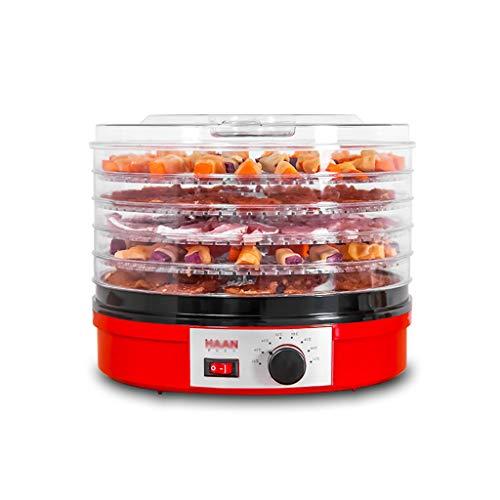 Levensmiddelconserveringsmachine, fruit Dryer, knop besturing instelbare temperatuur elektrische 5-laags ABS tray voor dehydratie groente paddenstoelen thee hondenvoer kattenvoer, droge vruchten machine