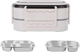 FEIGAO 2 Couche Bento Box,304 Acier Inoxydable+PP Lunch Box,avec PoignéE Boite Repas Compartiment,Rangement Et Organisatio...