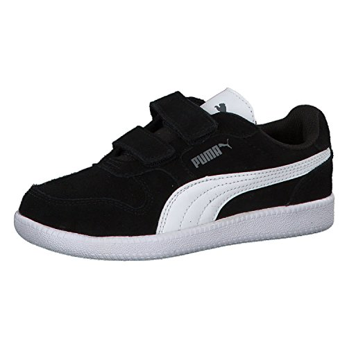 Puma Unisex-Kinder Icra Trainer SD V PS Sneaker, Schwarz Black-White