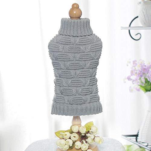 Weihnachtspullover für kleine Hunde Haustier Kleidung Winterhund Pullover Mantel Rollkragenpullover Warme Katze Pullover Hanf Blumen Mantel-H_M_China