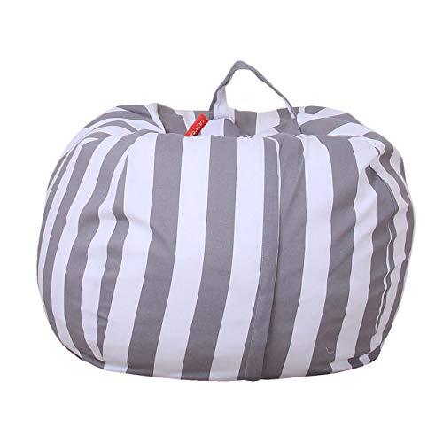THEE Spielzeug Aufbewharungstasche Streife Sitzsack Aufbewahrung Beutel Lagerung (38 inch, Z-Grau)