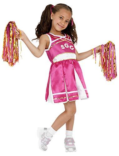 Smiffys Costume de pom pom girl, enfant, avec robe et pompons
