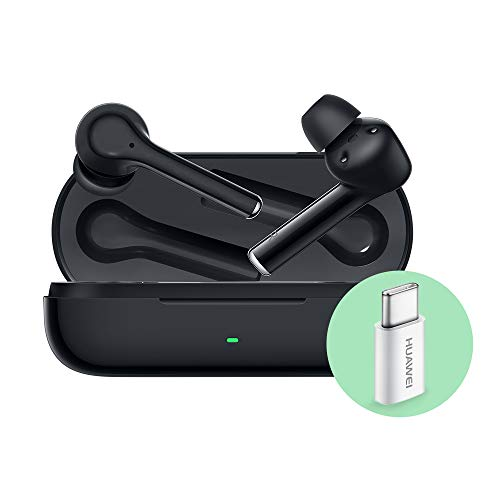HUAWEI FreeBuds3i Auricolari True Wireless In Ear con Cancellazione Intelligente del Rumore, con Adattatore Huawei AP52, Nero