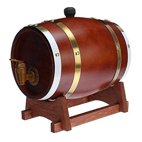 ZYNS Barril De Vino Herramientas De Cerveza De Barril De Madera para La Olla De Ron Whisky Wine Mini Home Beer Keg Barrel Barril Beer Cerveza para El Vino Whisky Decoración del Hogar Barril De