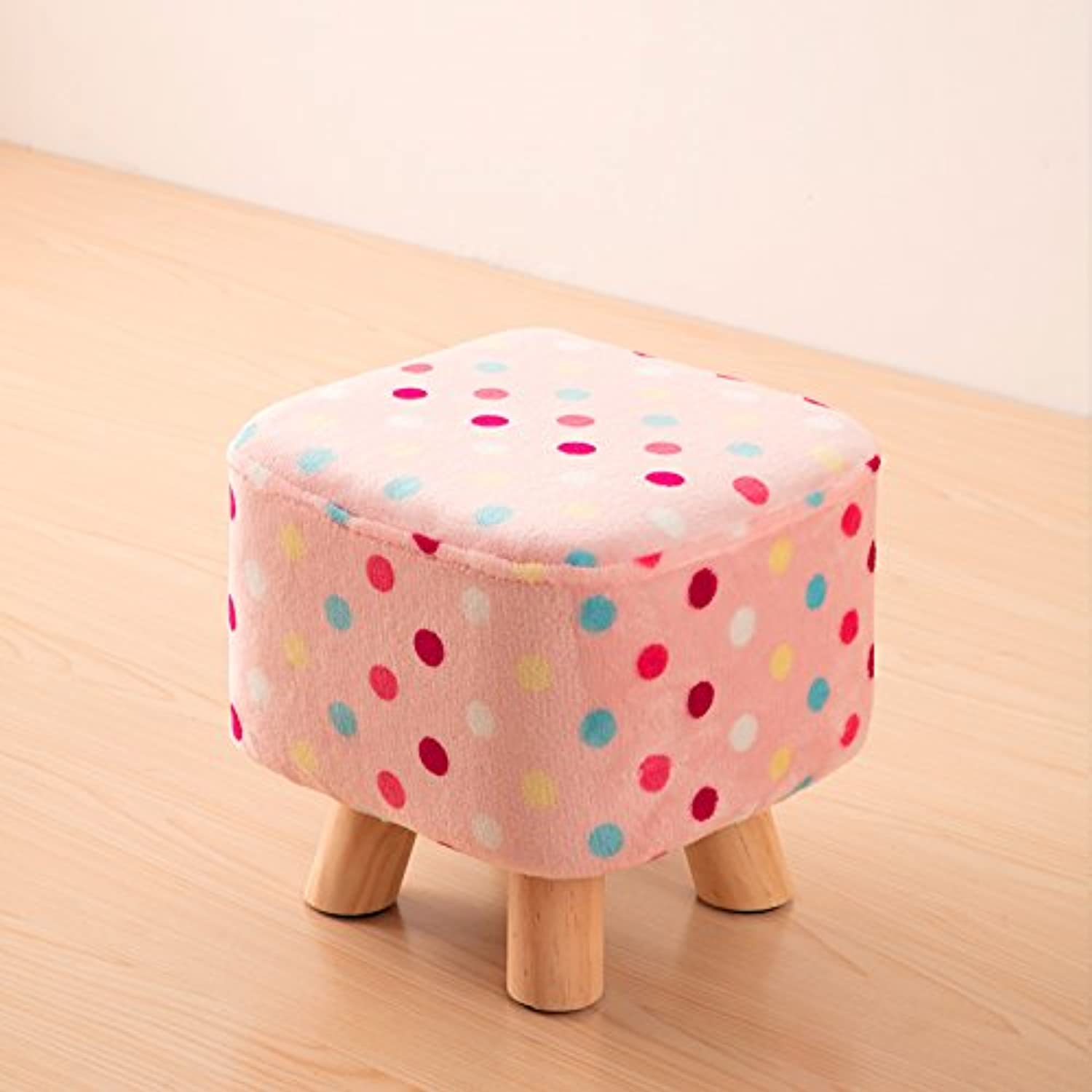 Dana Carrie Solid Wood on a Low stool for shoes is Fashionable to wear shoes That Creative Party Chair Fabrics stool Sofa Chair Coffee Table Bench Home, The end Point of The Toner color