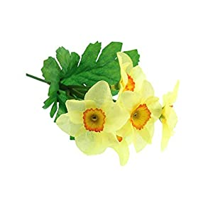 Crafty Capers 18cm Narcissus Pick – Daffodil Artificial Fabric Flowers
