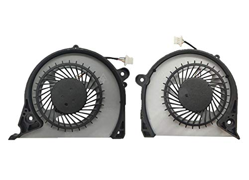 CPU GPU Cooling Fan Intended for Dell Inspiro 15 7577, G5 15 5587 (G5587), G7 15 7588 (G7588), Vostro 15 7580 7570 P71F P72F Series Laptop FJQS FJQT